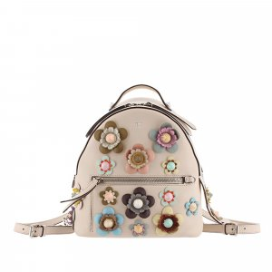 Fendi Mini By The Way Flowerland Leather Backpack