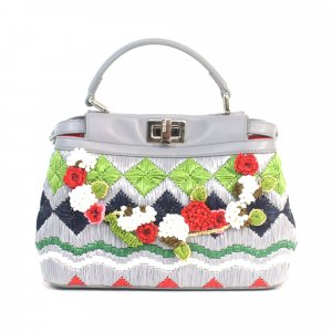 Fendi Mini Embroidered Peekaboo Satchel