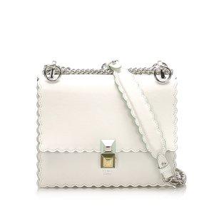 Fendi Mini Kan I Leather Shoulder Bag
