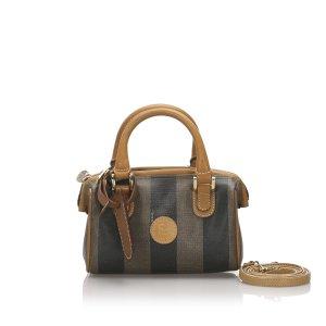 Fendi Mini Pequin Boston Bag
