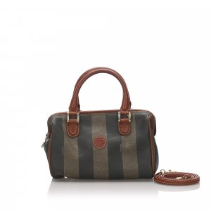 Fendi Mini Pequin Crossbody Bag