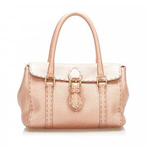 Fendi Mini Selleria Linda Leather Handbag