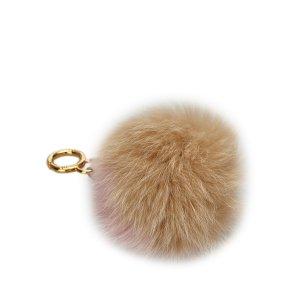 Fendi Key Chain light pink fur