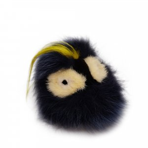 Fendi Key Chain black fur