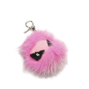 Fendi Key Chain pink fur