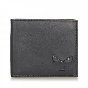 Fendi Monster Leather Bifold Wallet