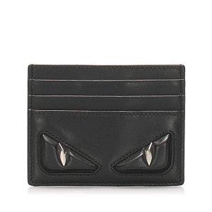 Fendi Monster Leather Card Holder