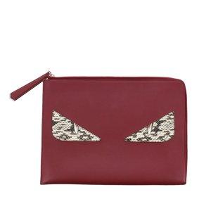 Fendi Monster Leather Clutch Bag