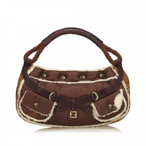Fendi Mouton Leather Baguette