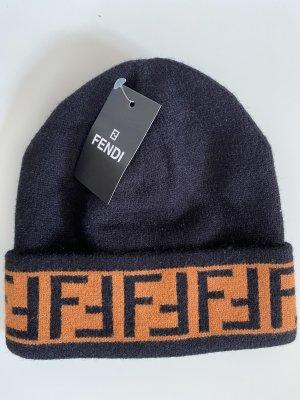 Fendi Mütze Beanie mit FF Logo Saum