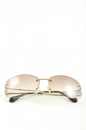 Fendi Ovale zonnebril bruin casual uitstraling