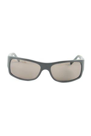 Fendi Occhiale da sole ovale nero stile casual