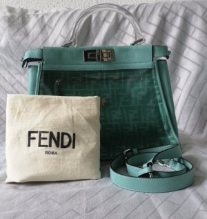 Fendi Peekaboo Blau Tasche Large Originale 100%