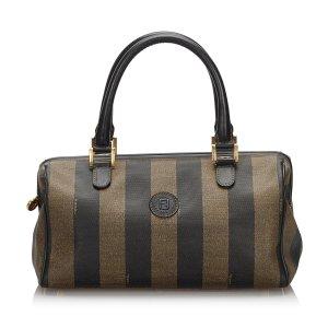 Fendi Pequin Boston Bag