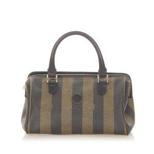 Fendi Pequin Canvas Handbag