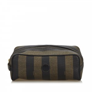 Fendi Pequin Clutch Bag