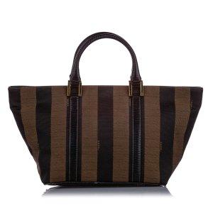 Fendi Pequin Nylon Handbag