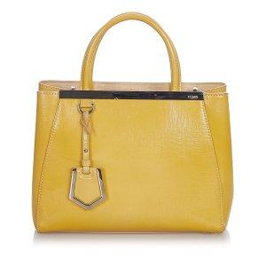 Fendi Petit 2Jours Leather Handbag