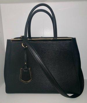 Fendi Petite 2Jours Black Leather Tote
