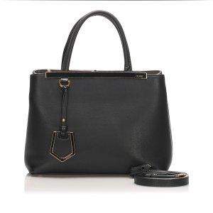 Fendi Petite 2Jours Leather Satchel