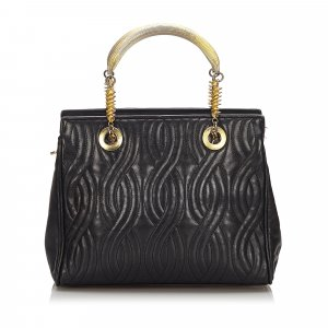 Fendi Quilted Leather Tote Bag