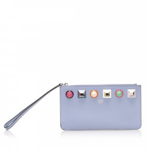 Fendi Rainbow Stud Leather Pouch
