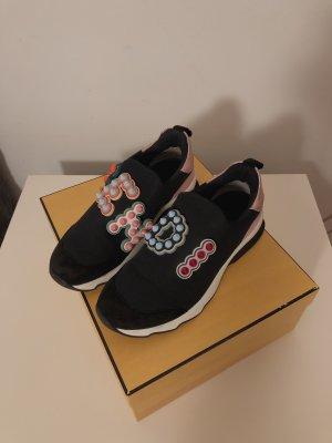 Fendi Sneaker slip-on fucsia neon-blu scuro Pelle