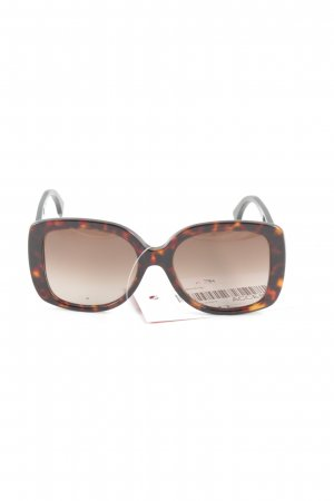 Fendi Retro Brille schwarz-braun Animalmuster Casual-Look