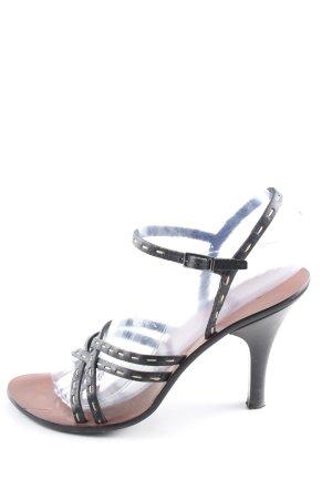 Fendi Riemchen-Sandalen schwarz Casual-Look
