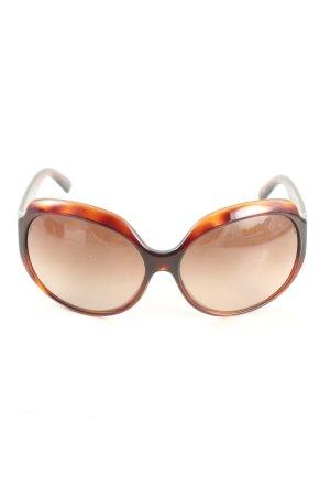 Fendi runde Sonnenbrille braun-hellorange Farbverlauf Casual-Look