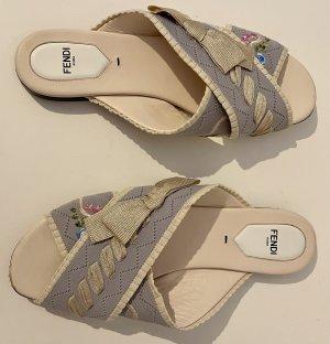 Fendi Flip-Flop Sandals multicolored