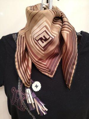 Fendi Zijden sjaal bruin-donkerbruin Zijde
