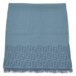Fendi Gebreide sjaal blauw Wol