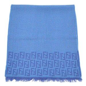 Fendi Sciarpa lavorata a maglia blu Lana