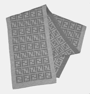 Fendi Écharpe en laine gris clair-gris foncé