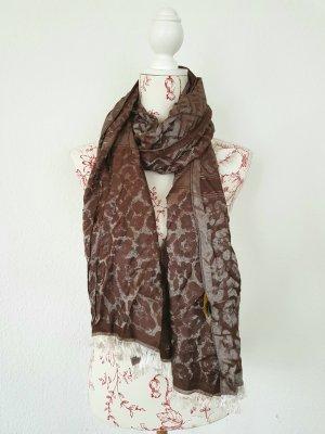 Fendi Sciarpa di seta argento-marrone-viola