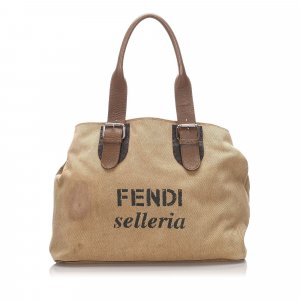Fendi Selleria Canvas Tote Bag
