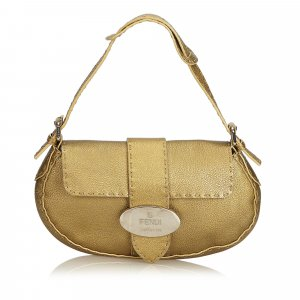 Fendi Selleria Leather Baguette