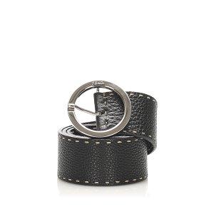 Fendi Cinturón negro Cuero