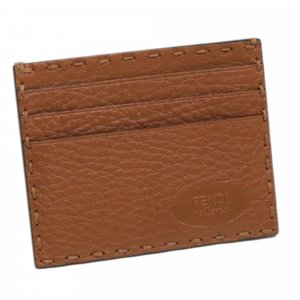 Fendi Card Case brown leather