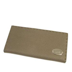 Fendi Selleria Leather Long Wallet