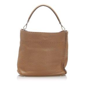 Fendi Selleria Leather Satchel