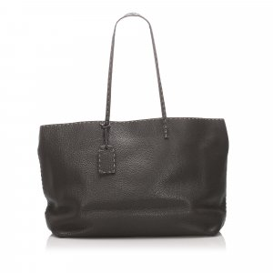 Fendi Selleria Leather Tote Bag