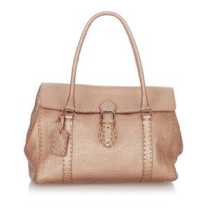 Fendi Handbag pink leather
