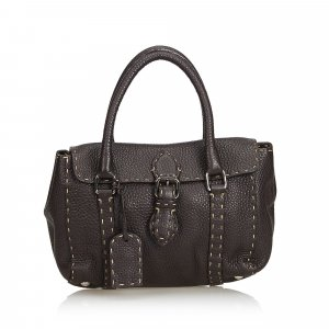 Fendi Tote dark brown leather