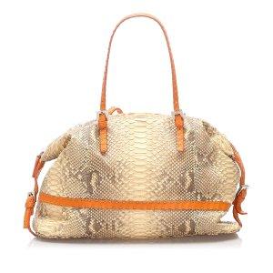 Fendi Selleria Python Leather Shoulder Bag