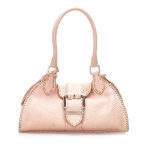 Fendi Selleria Sporty Leather Handbag