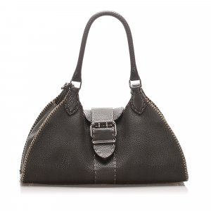 Fendi Selleria Sporty Leather Shoulder Bag