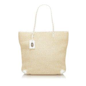 Fendi Selleria Straw Tote Bag