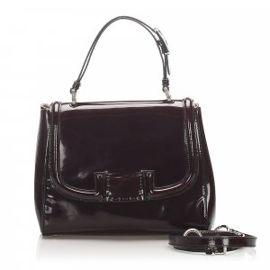 Fendi Silvana Patent Leather Satchel